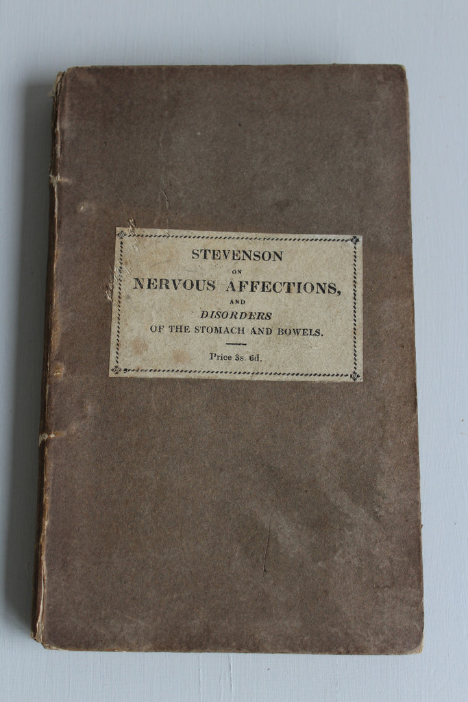 J Stevenson - Nervous Affections Disorders of the Head & Chest Stomach & Bowels 1830 - Kernow Furniture