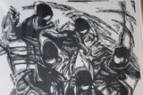 Children Running Framed Woodcut - Kernow Furniture