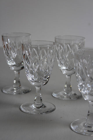 5 vintage liquer glasses quality drinking glasses