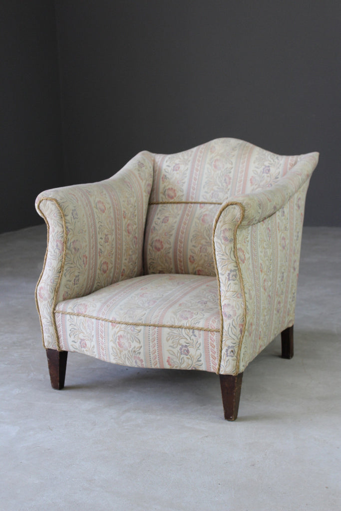 Floral Upholstered Small Armchair - Kernow Furniture