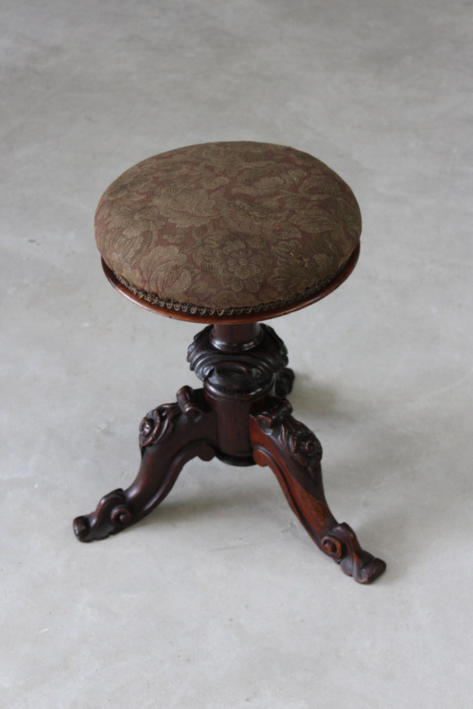 antqiue victorian rosewood music stool