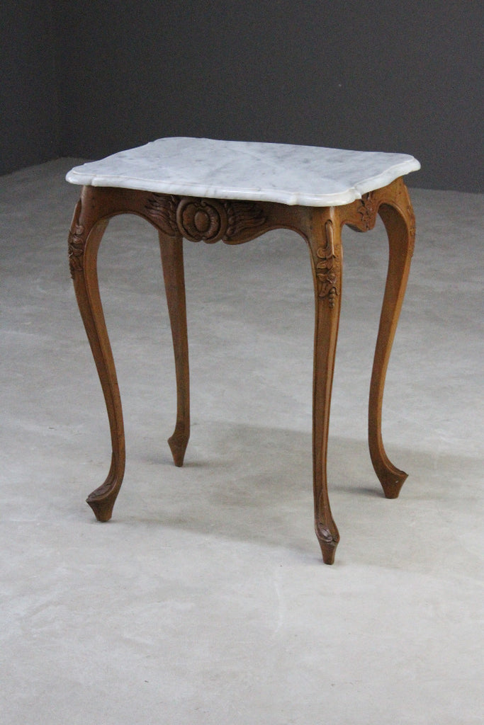 small french marble top side occasional table