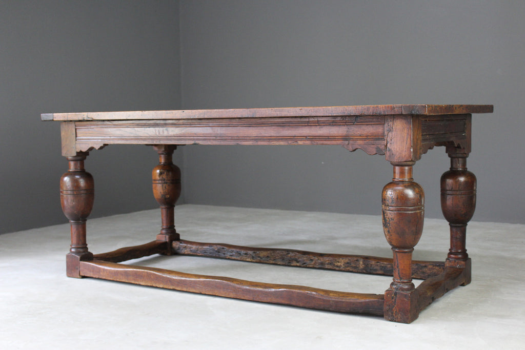 Antique Oak Refectory Table - Kernow Furniture