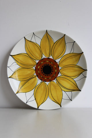 Arabia Finland Large Sunflower Plate - Kernow Furniture