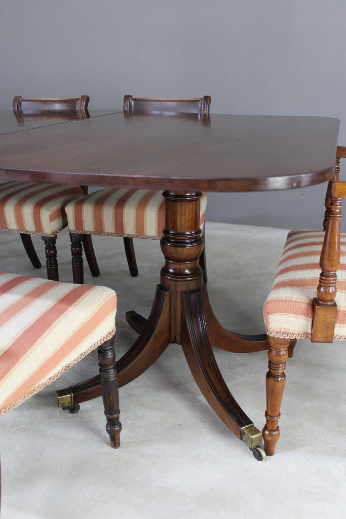 Large Triple Pedestal Regency Style Mahogany Dining Table Kernow Furniture