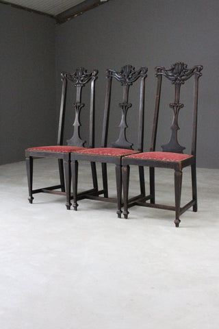 Art Nouveau High Back Dining Chairs