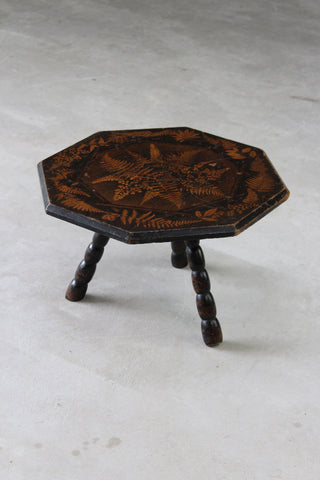 Fern Stencilled Side Table - Kernow Furniture