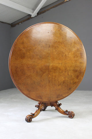 good quality walnut round tilt top dining breakfast table
