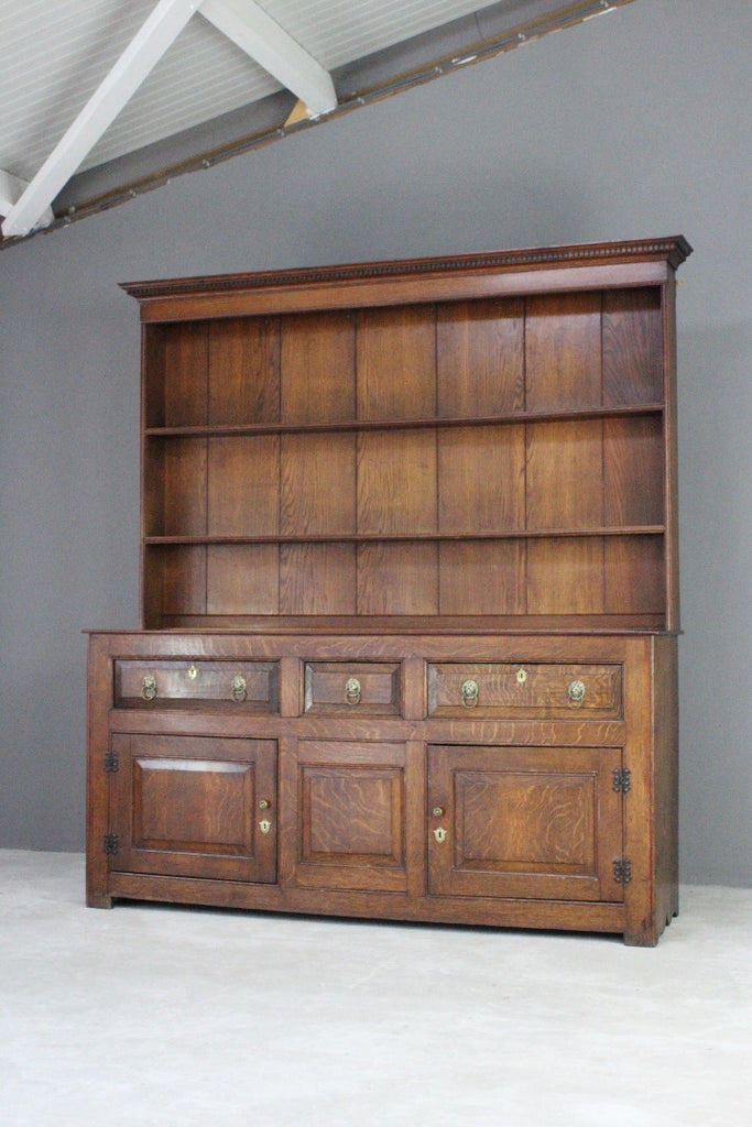 Antique Georgian Oak Welsh Dresser - Kernow Furniture