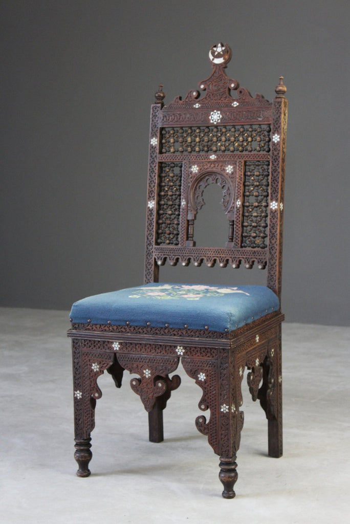 Liberty Style Moorish Side Chair - Kernow Furniture