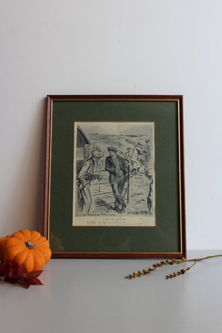 A Wallis Mills Framed Print - A Weighty Question