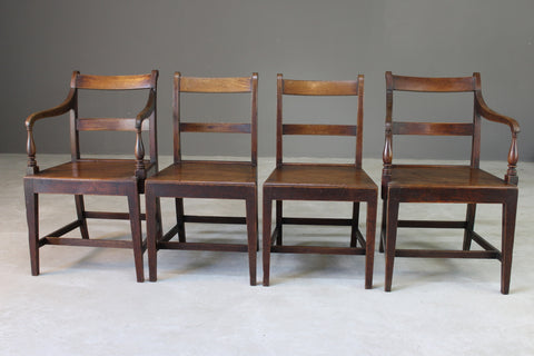 Set 4 Oak  & Fruit Wood Country Kitchen Chairs