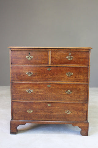Antique Oak Georgian Chest of Drawers