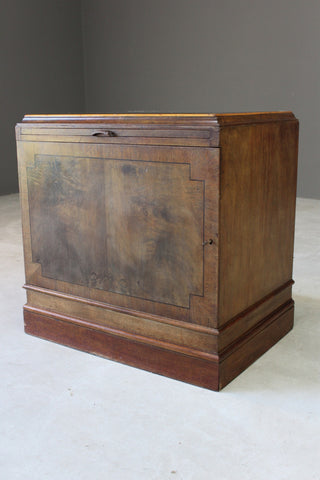 Single Walnut Office Pedestal Cabinet