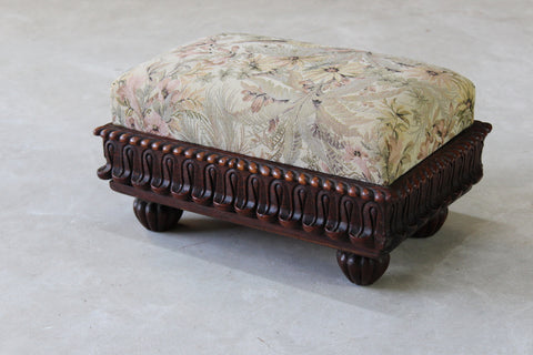 Vintage Traditional Small Footstool