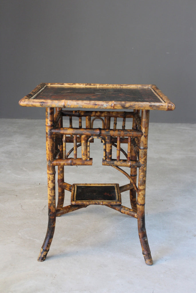 Antique Oriental Style Bamboo Side Table - Kernow Furniture