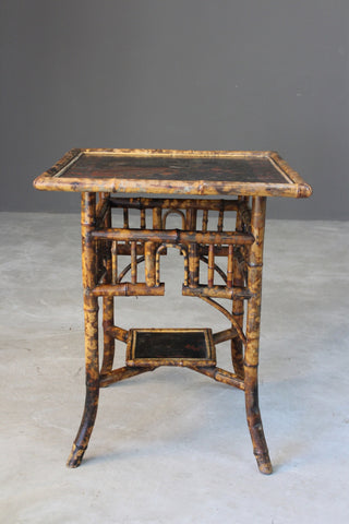 Antique Oriental Style Bamboo Side Table
