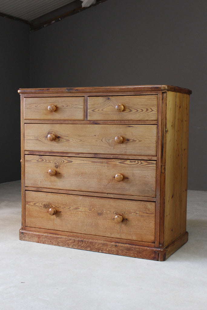 Rustic Pine Chest Of Drawers - Kernow Furniture