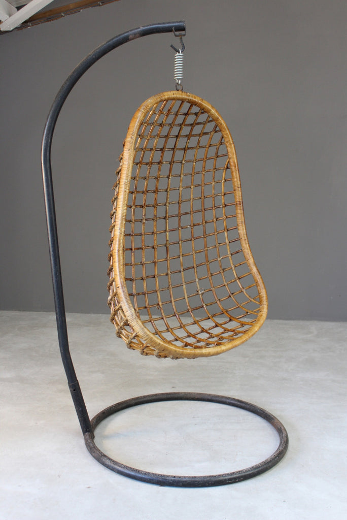 retro bamboo cane hanging chair