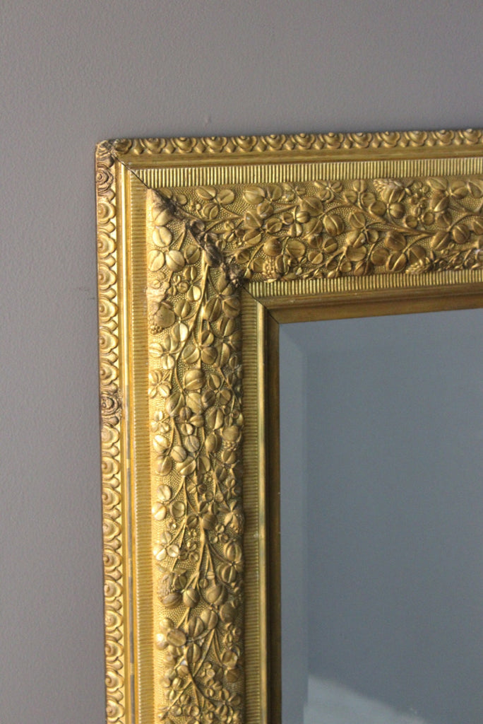 Large Gilt Rectangular Wall Mirror - Kernow Furniture