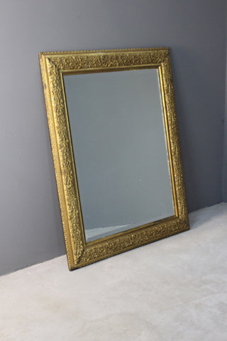 Large Gilt Rectangular Wall Mirror