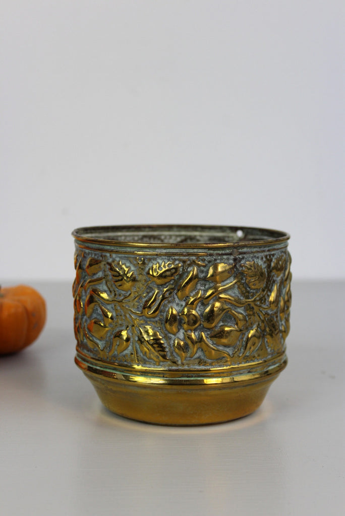 Small Pressed Brass Plant Pot