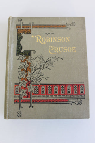 Vintage Robinson Crusoe Hard Back Book - Kernow Furniture