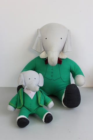 Babar The Elephant Pair Stuffed Toys