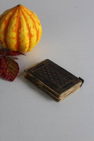 Vintage Leather Bound Prayer Book