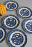 6 Myott & Son Willow Bread Plates