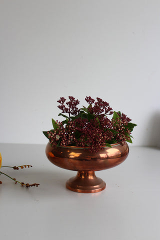Copper Plated Flower Bowl