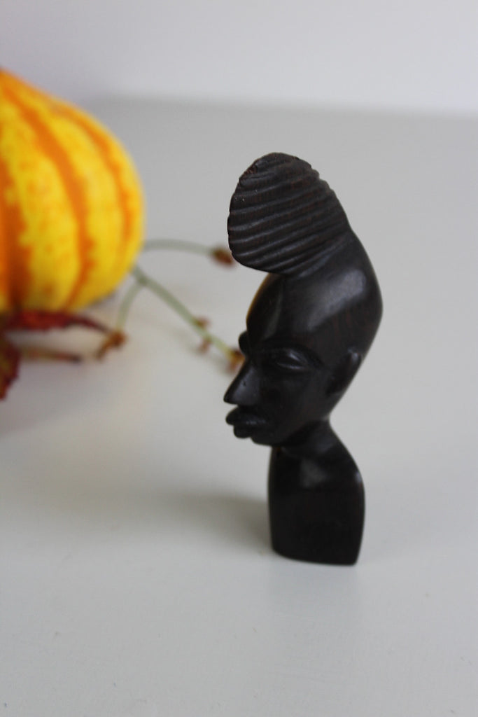 Carved African Hard Wood Head