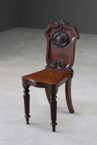 Victorian Mahogany Masonic Hall Chair