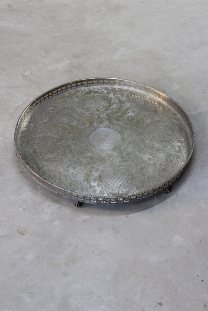 Large Viners Silver Plated Tray - Kernow Furniture