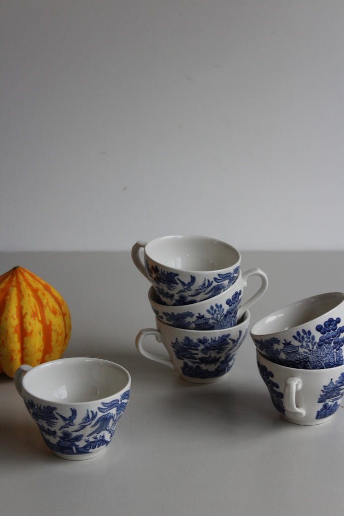 Blue & White Willow Cups - Kernow Furniture