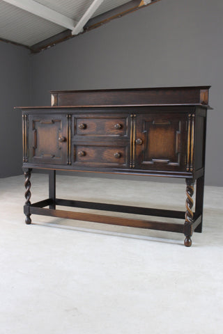 1920s Dark Oak Sideboard - James Shoolbred & Co