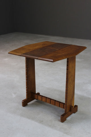 Early 20th Century Ash Drop Leaf Side Table