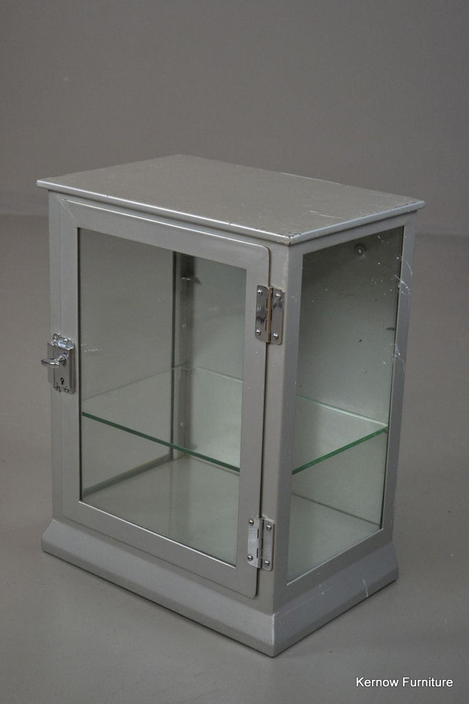 Mid Century Painted Steel Medical Cabinet Bathroom Display - Kernow Furniture 100s vintage, retro & antique items in stock