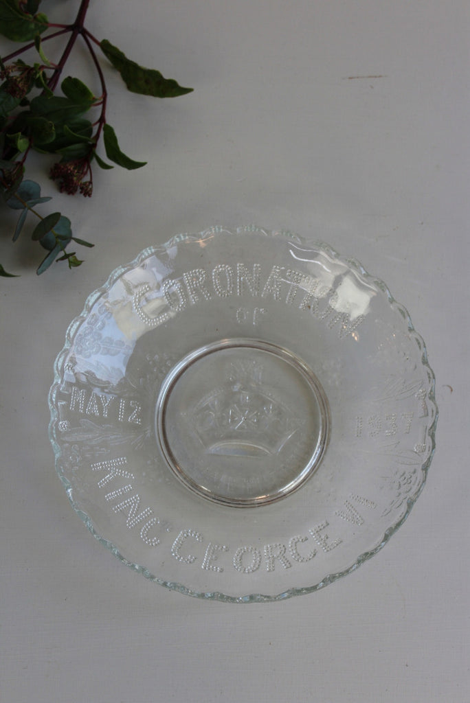 King George VI Coronation Glass Plate