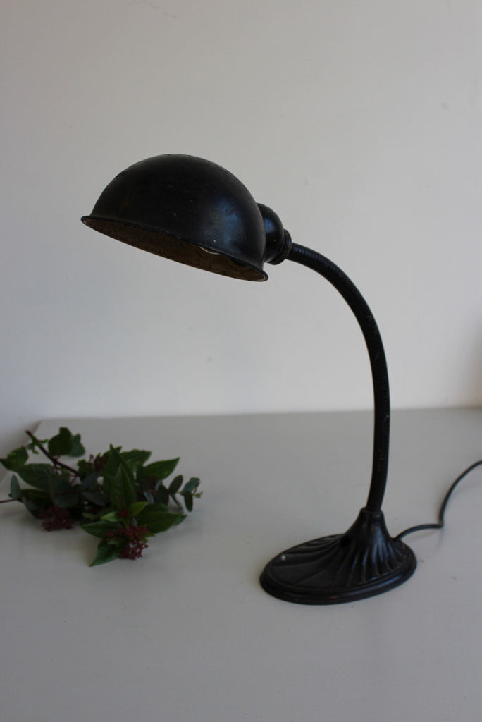 Early 20th Century Black Desk Lamp - Kernow Furniture