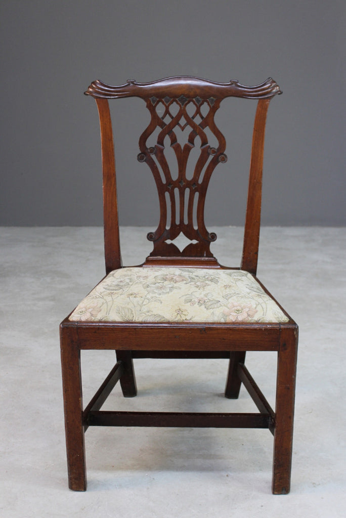 Antique Chippendale Style Mahogany Dining Chair - Kernow Furniture