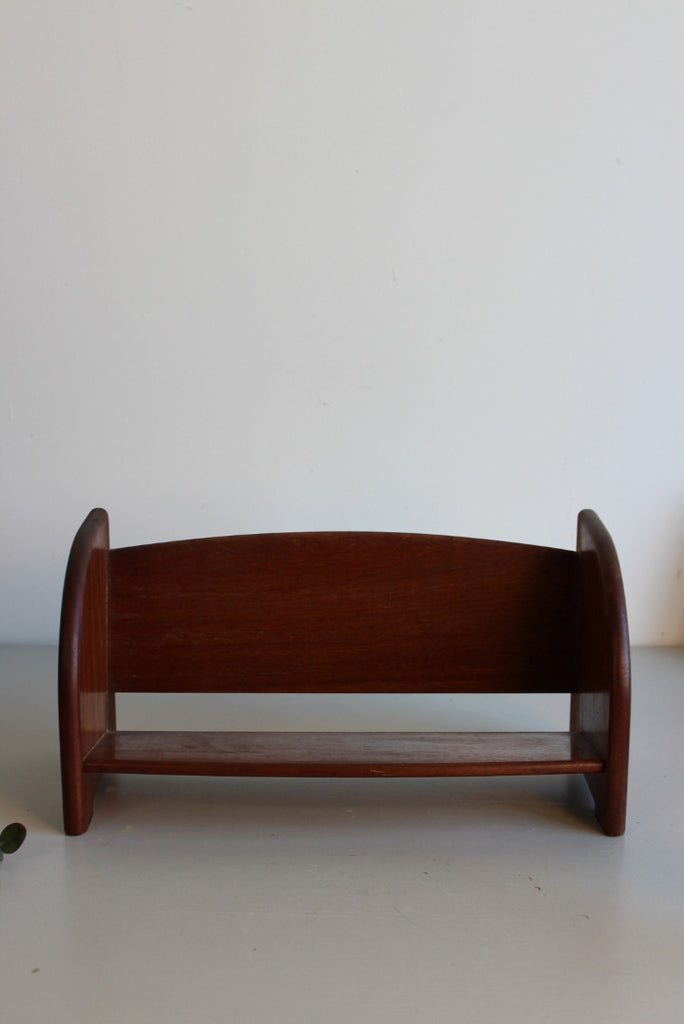 Vintage Mahogany Book Trough