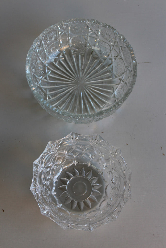 Pair Vintage Glass Bowls