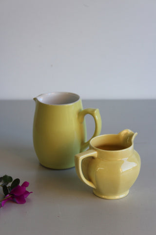 Pair VIntage Yellow Jugs