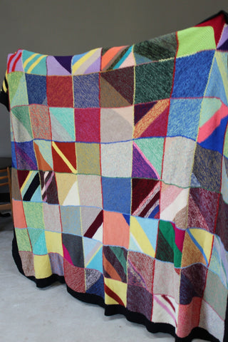 Hand Knitted Large Wool Blanket