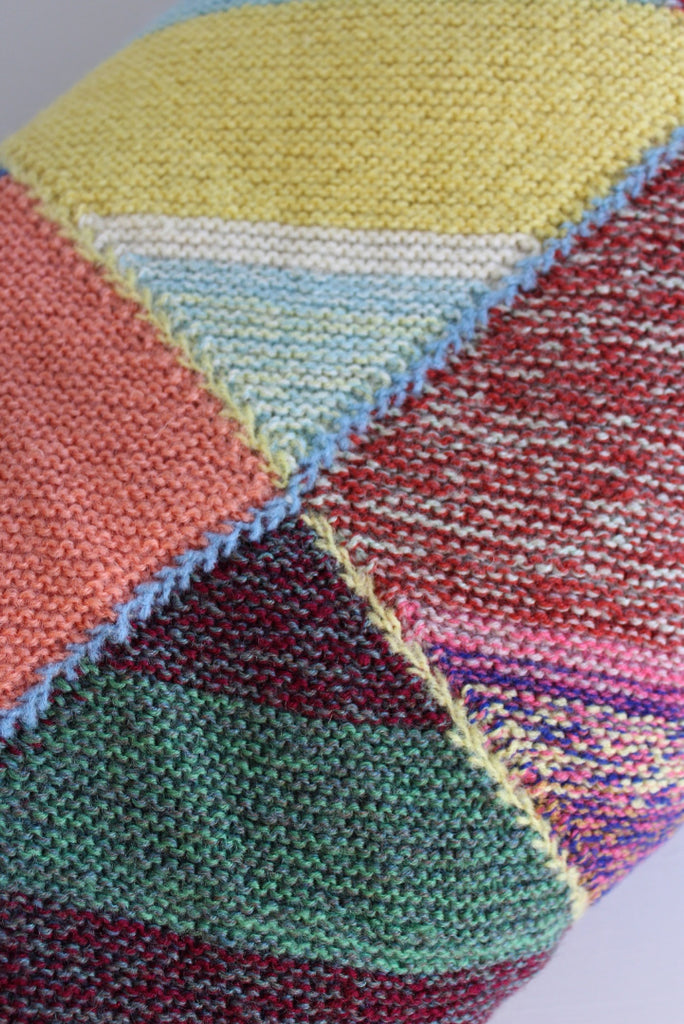 Hand Knitted Large Wool Blanket - Kernow Furniture