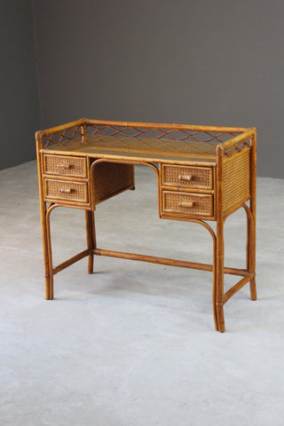 Vintage Bamboo Dressing Table