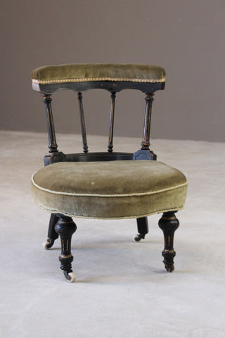Antique Victorian Small Nursing Chair