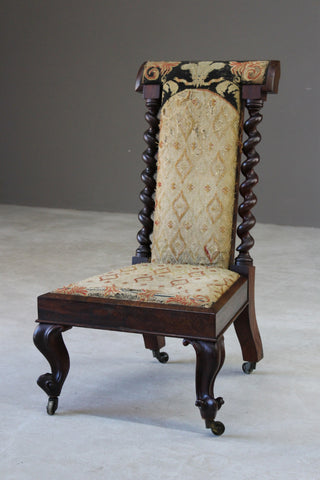 Victorian Rosewood Prayer Chair