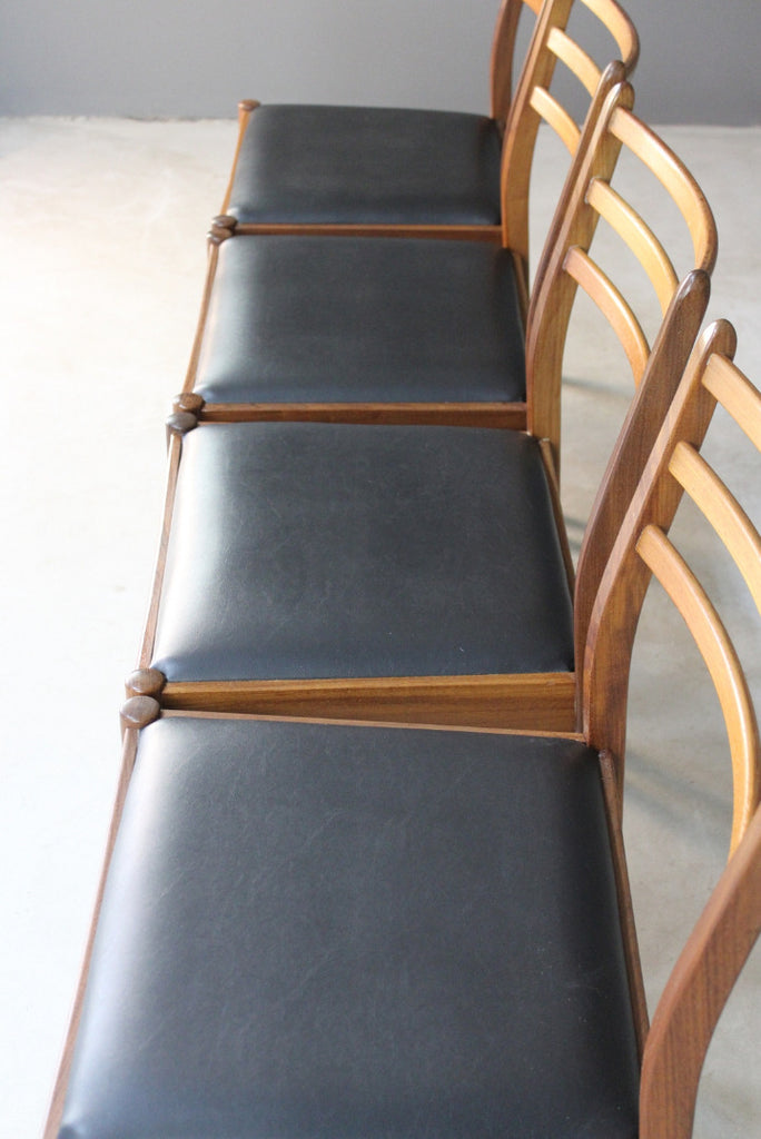 4 Victor Wilkins G Plan Teak Dining Chairs - Kernow Furniture